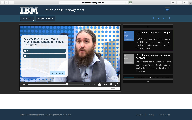 IBM – Interactive Video Portal