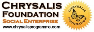 Chrysalis Foundation Seal Social Enterprise White
